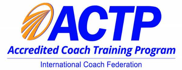 Image of ICF accredited executive coach training program badge